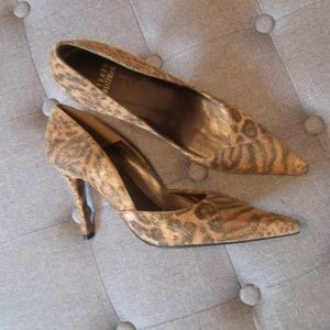 Stuart Weitzman Animal Print Suede Pumps NWOB